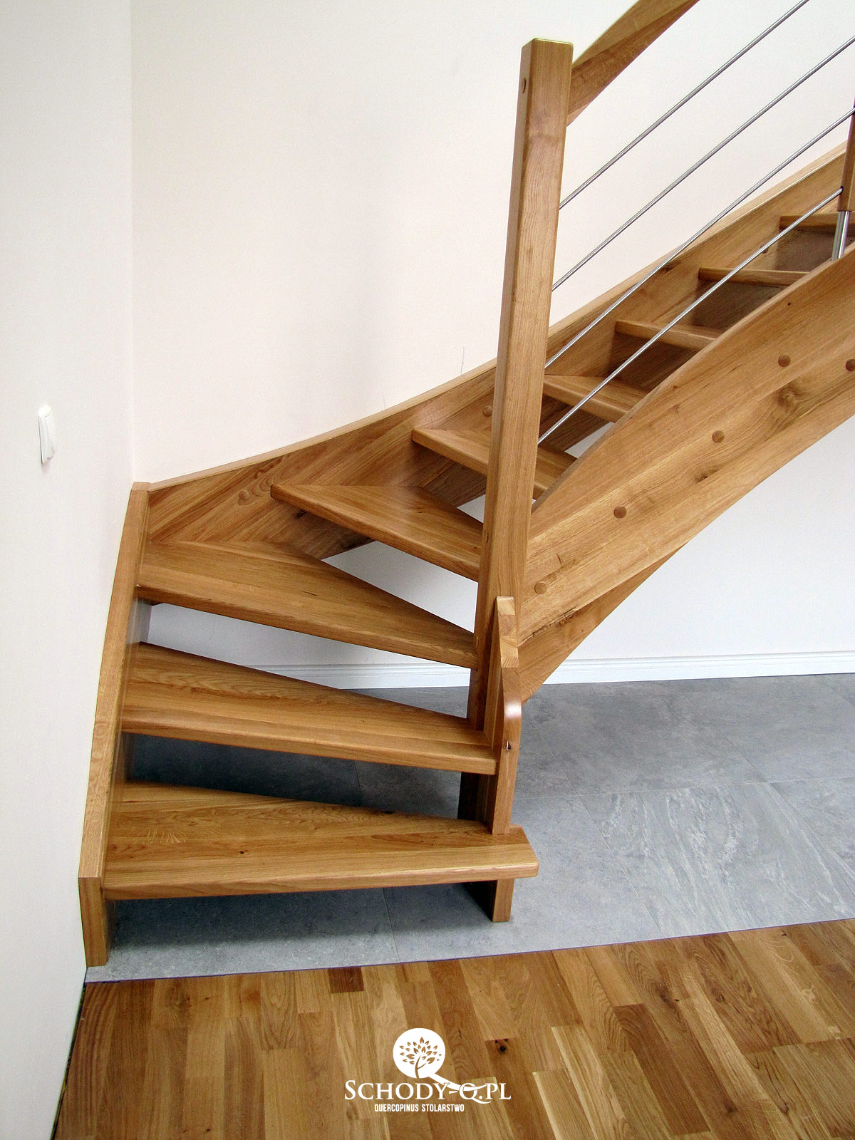 Schody Debowe Samonosne Poznan Stairs Q