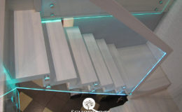 Schody-Q jesion bielony balustrada szyba dokrecana Grudziadz (1)