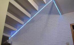 Schody-Q jesion bielony balustrada szyba dokrecana Grudziadz (7)