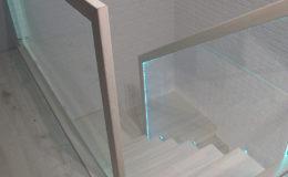 Schody-Q jesion bielony balustrada szyba dokrecana Grudziadz (9)