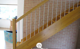 Schody Q.pl Sochaczew Debowe proste , balustrada inox 16mm (10)
