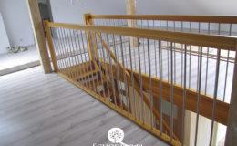 Schody Q.pl Sochaczew Debowe proste , balustrada inox 16mm (4)