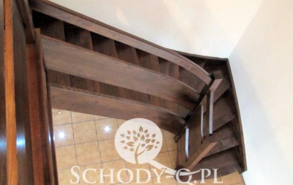 Schody Q Jesionowe orzech z deska loftowe