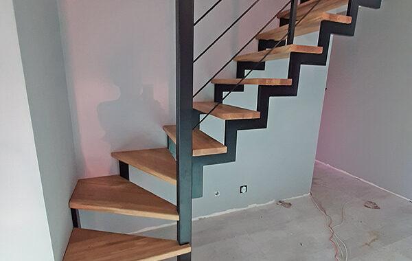 Schody-Q – Metalowe dębowe Loft